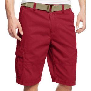 American Rag Cie Red Relaxed Cargo Shorts 30